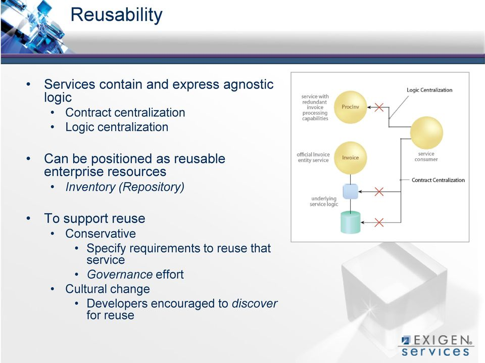 (Repository) To support reuse Conservative Specify requirements to reuse that