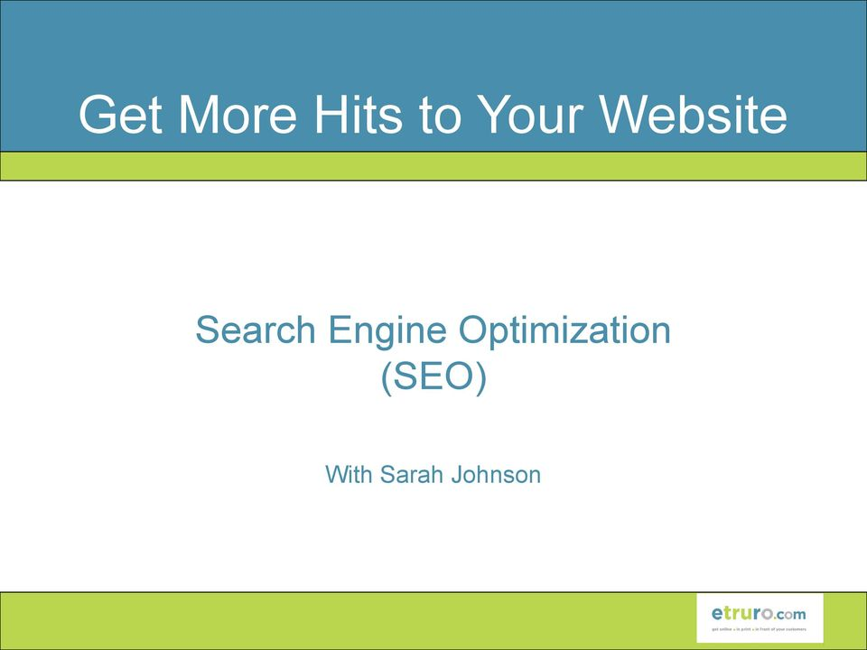 Engine Optimization