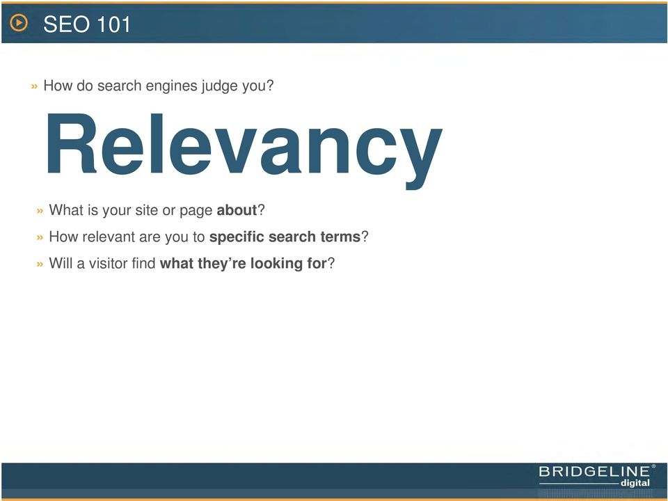 » How relevant are you to specific search
