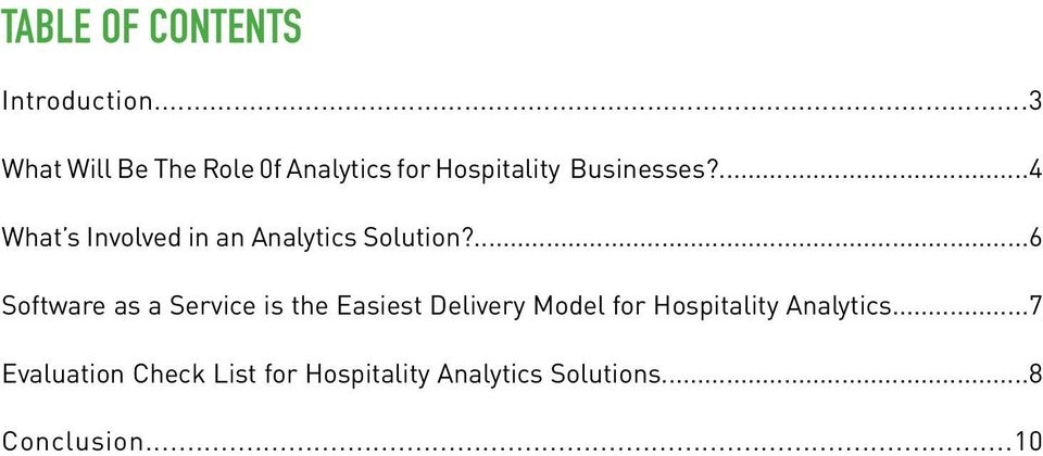 ...4 What s Involved in an Analytics Solution?
