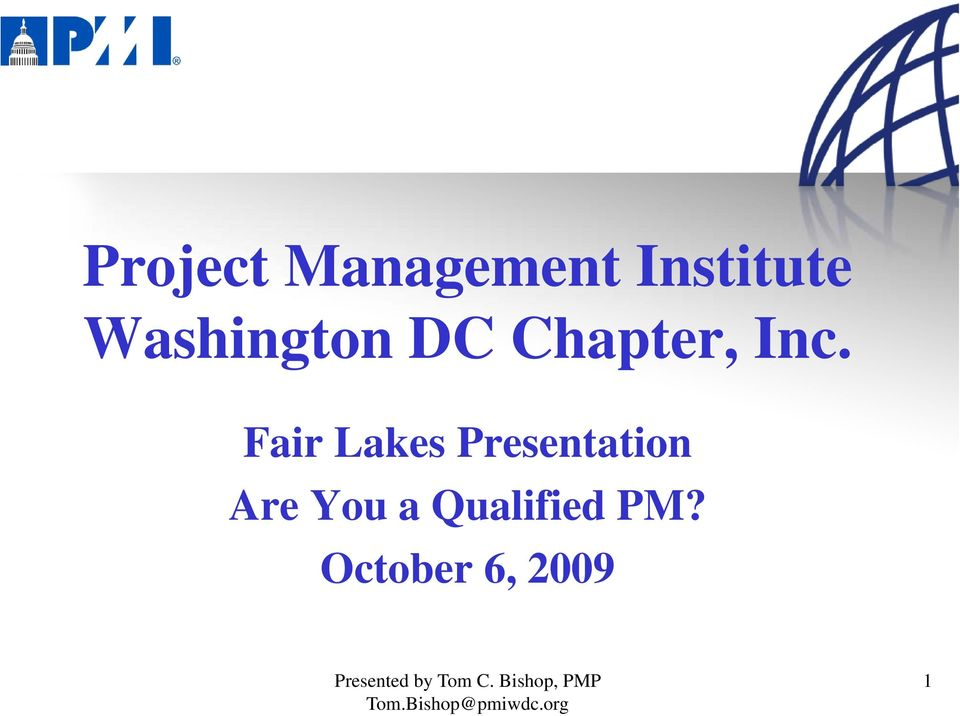 Fair Lakes Presentation Are You a Qualified