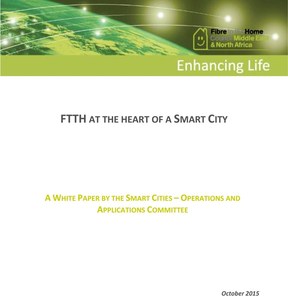 SMART CITIES OPERATIONS AND