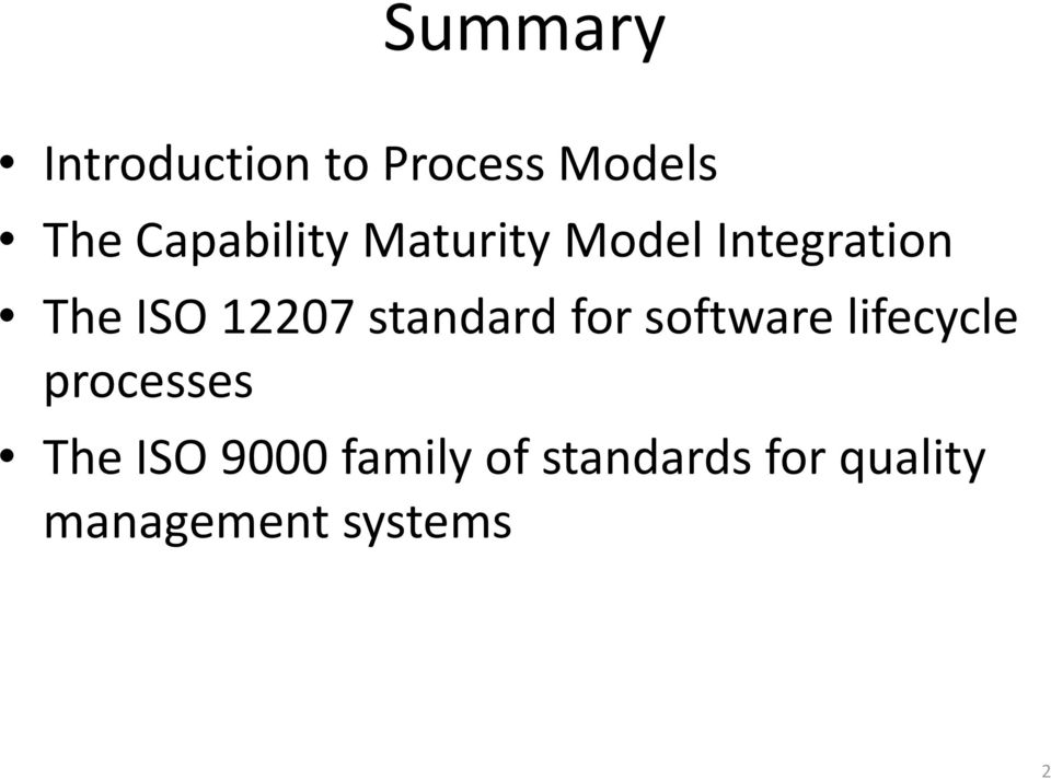 12207 standard for software lifecycle processes
