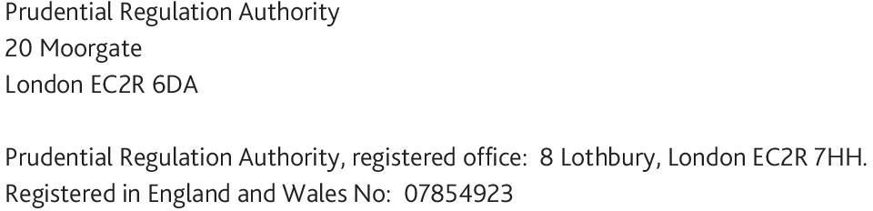 Authority, registered office: 8 Lothbury,