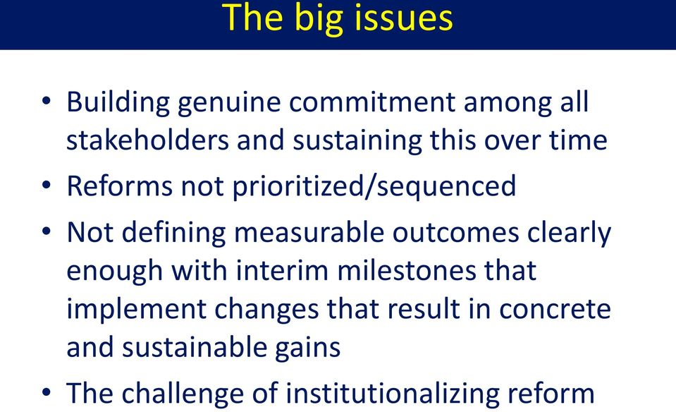 measurable outcomes clearly enough with interim milestones that implement