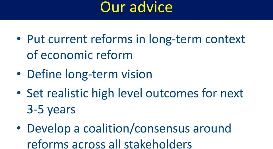 realistic high level outcomes for next 3-5 years