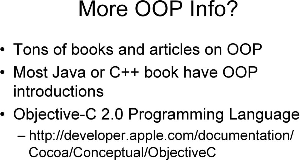 C++ book have OOP introductions Objective-C 2.