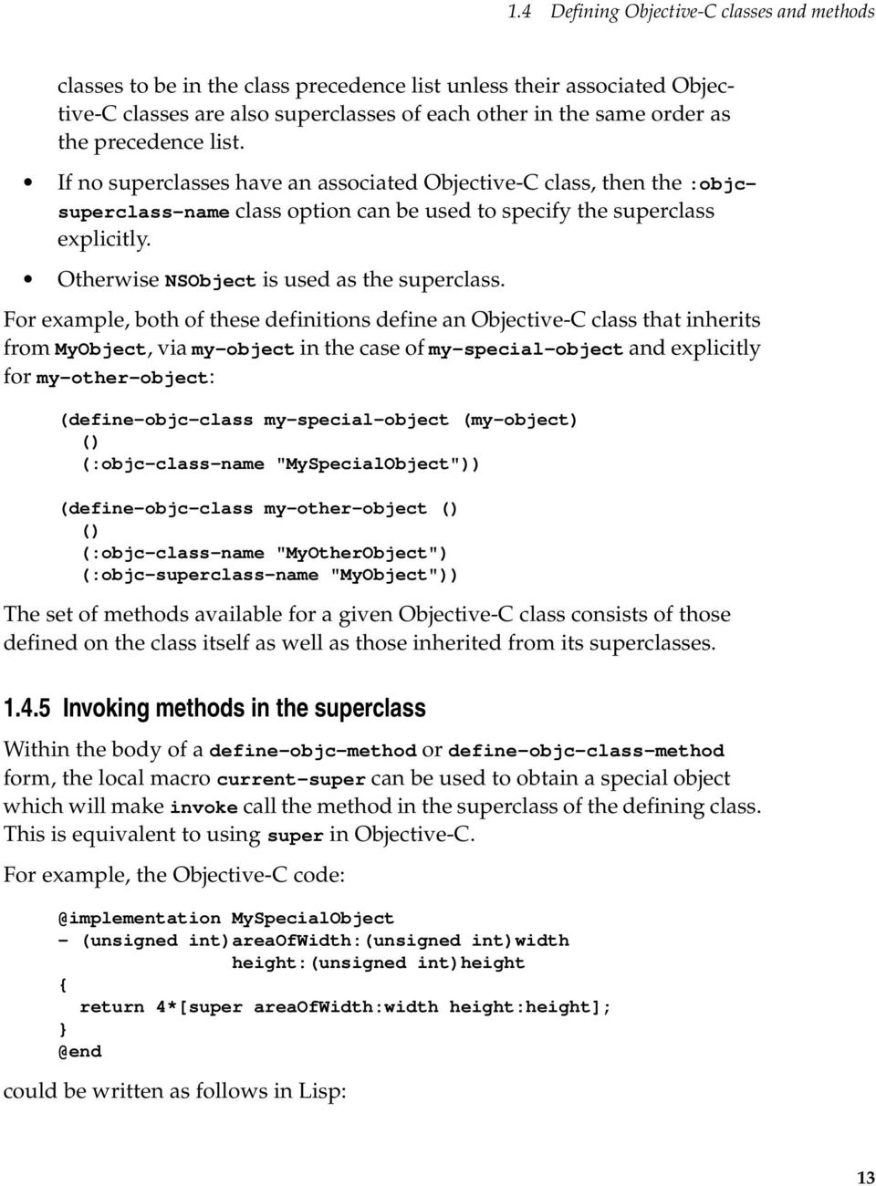 Otherwise NSObject is used as the superclass.