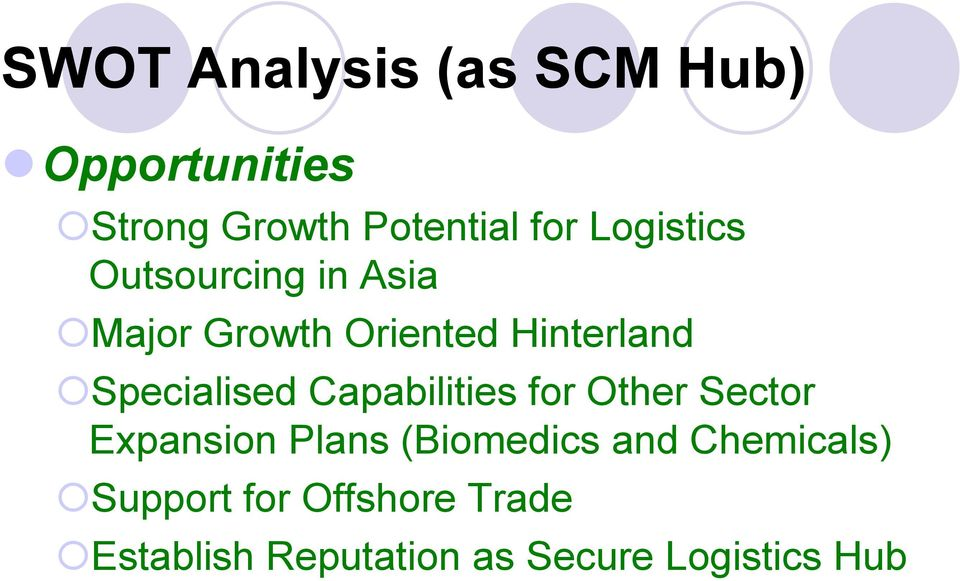 Specialised Capabilities for Other Sector Expansion Plans (Biomedics