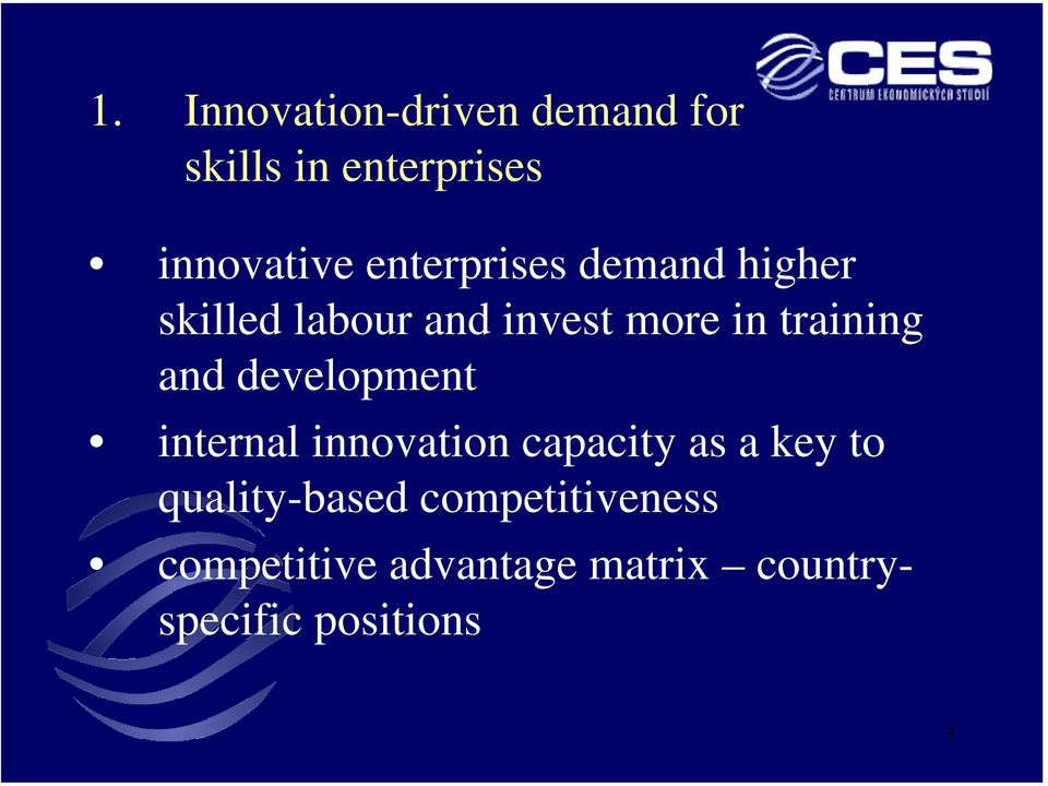 and development internal innovation capacity as a key to