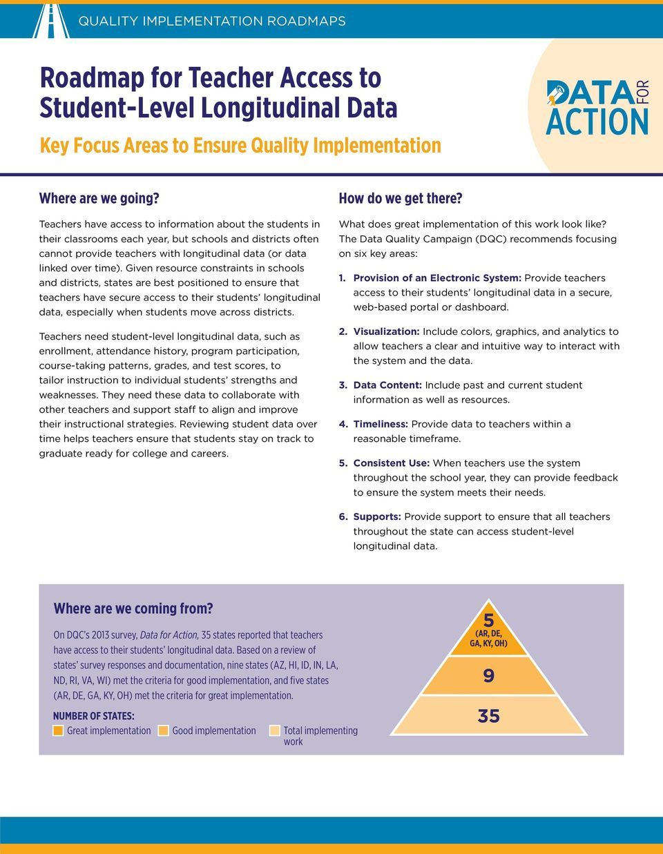 Given resource constraints in schools and districts, states are best positioned to ensure that teachers have secure access to their students longitudinal data, especially when students move across