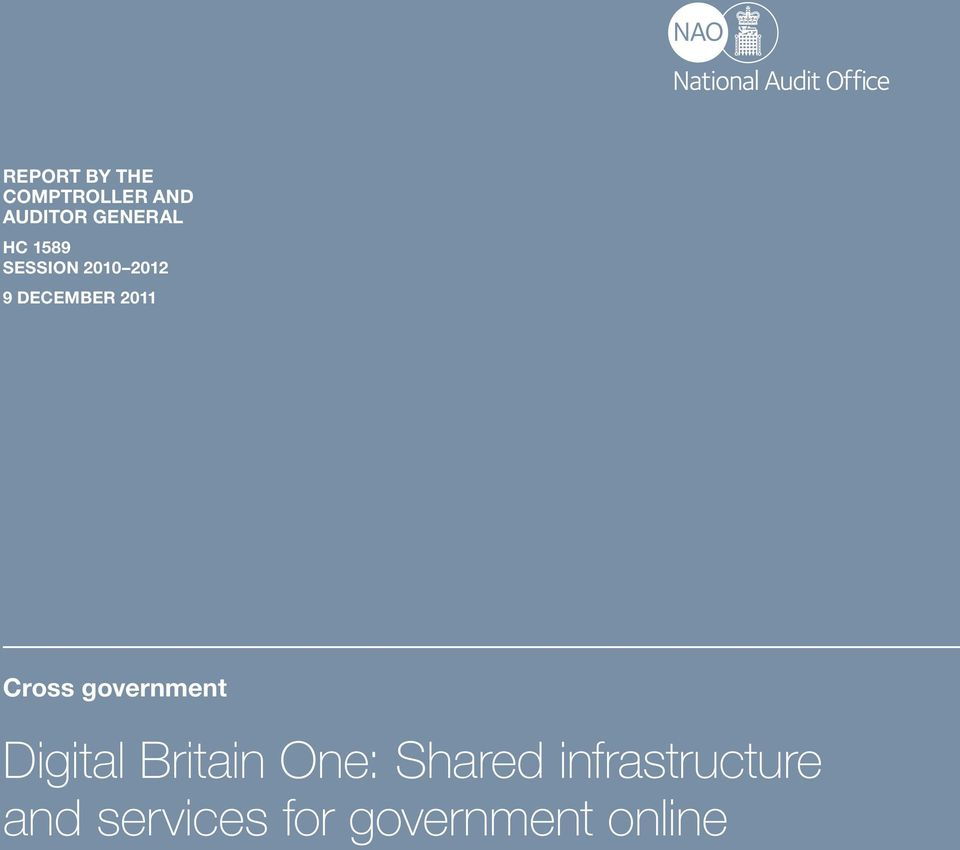 Cross government Digital Britain One: Shared
