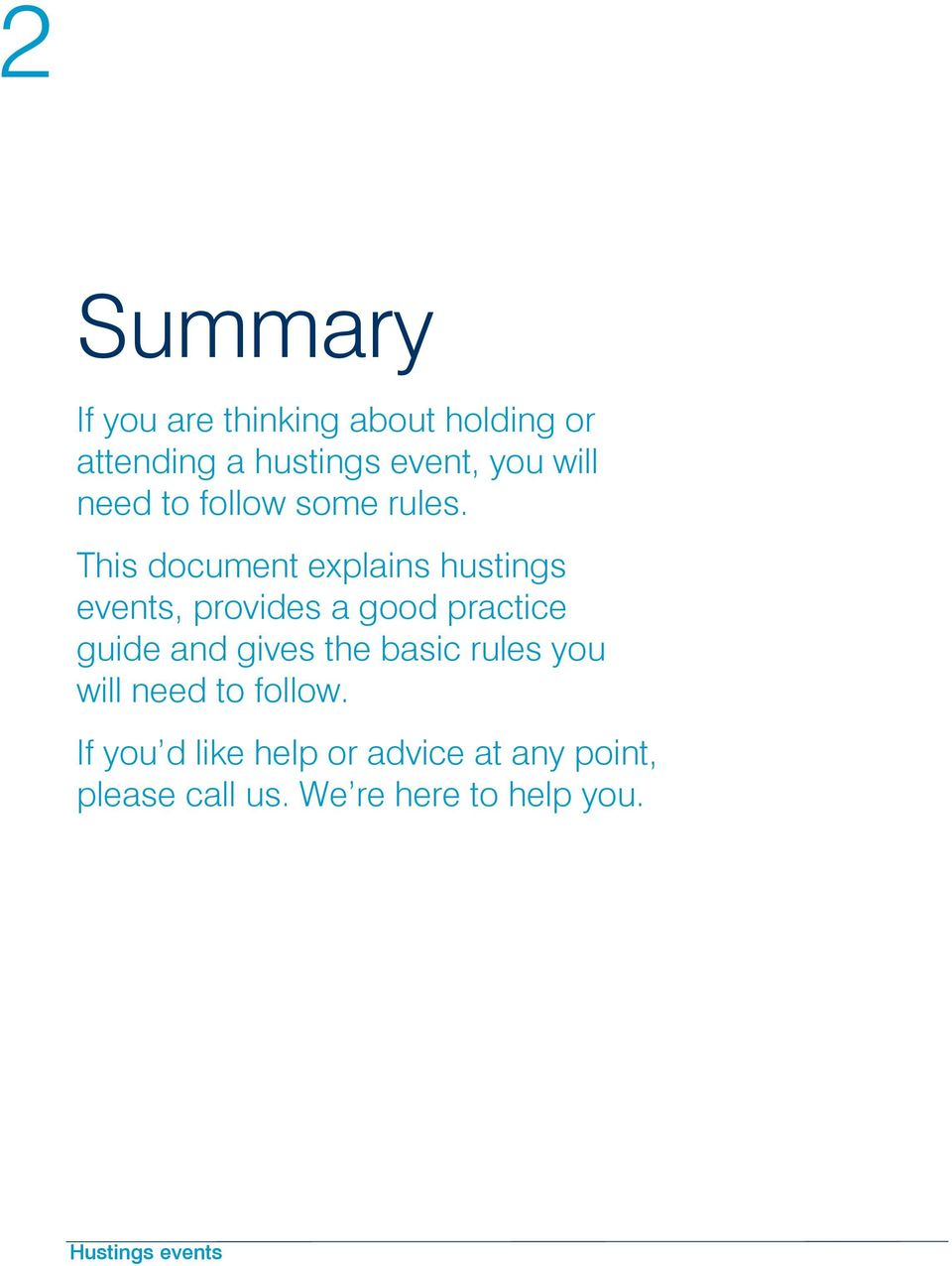 This document explains hustings events, provides a good practice guide and gives