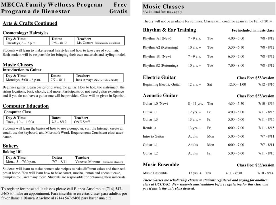 How to hold the instrument, the string locations, basic chords, and more. Participants do not need guitar experience and if you do not have a guitar one will be provided.