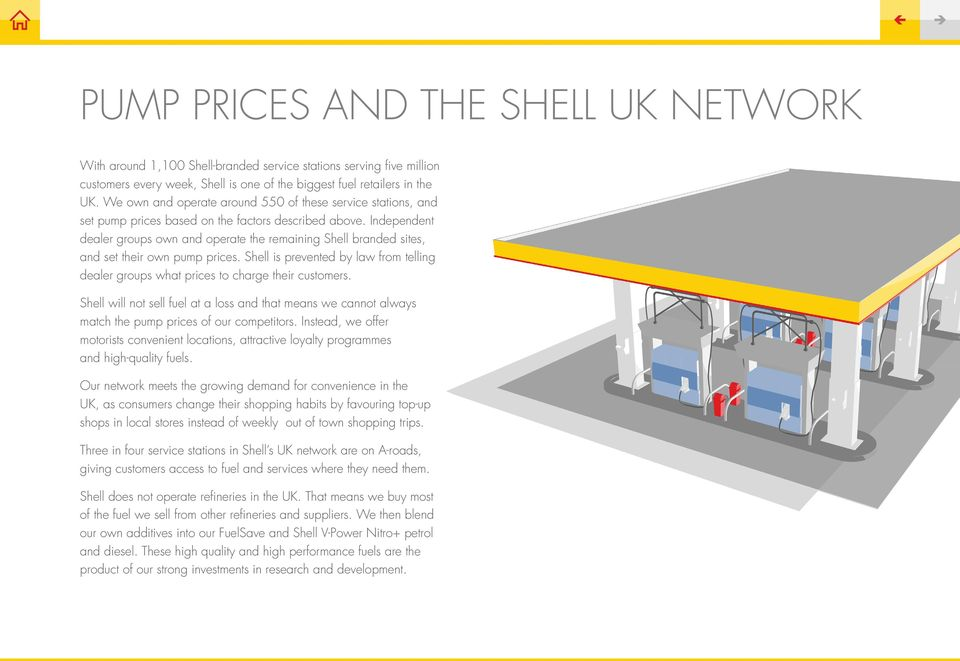 Independent dealer groups own and operate the remaining Shell branded sites, and set their own pump prices. Shell is prevented by law from telling dealer groups what prices to charge their customers.