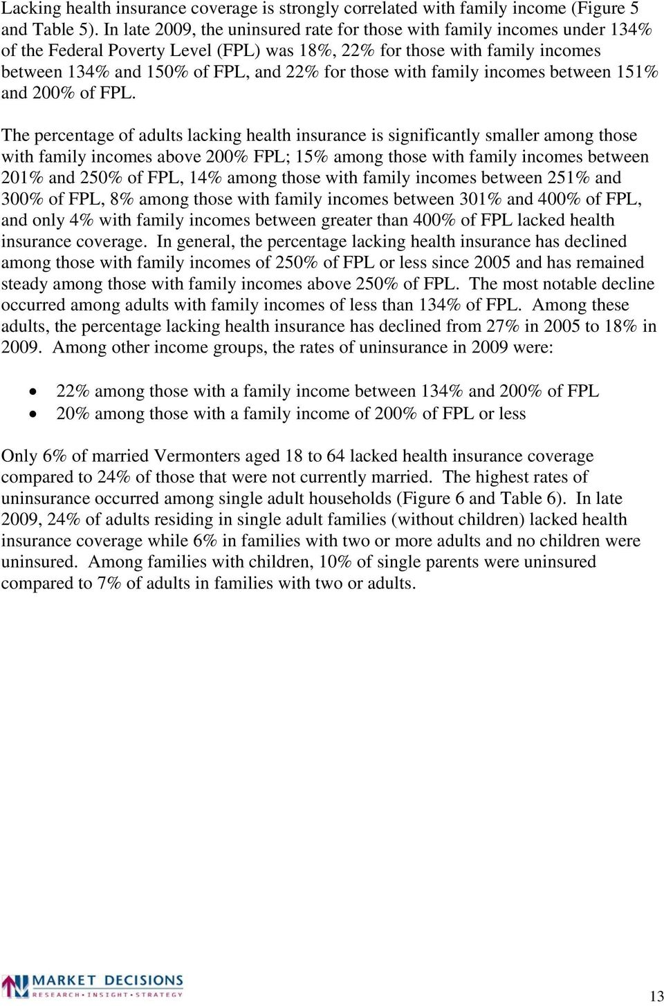 with family incomes between 151% and 200% of FPL.