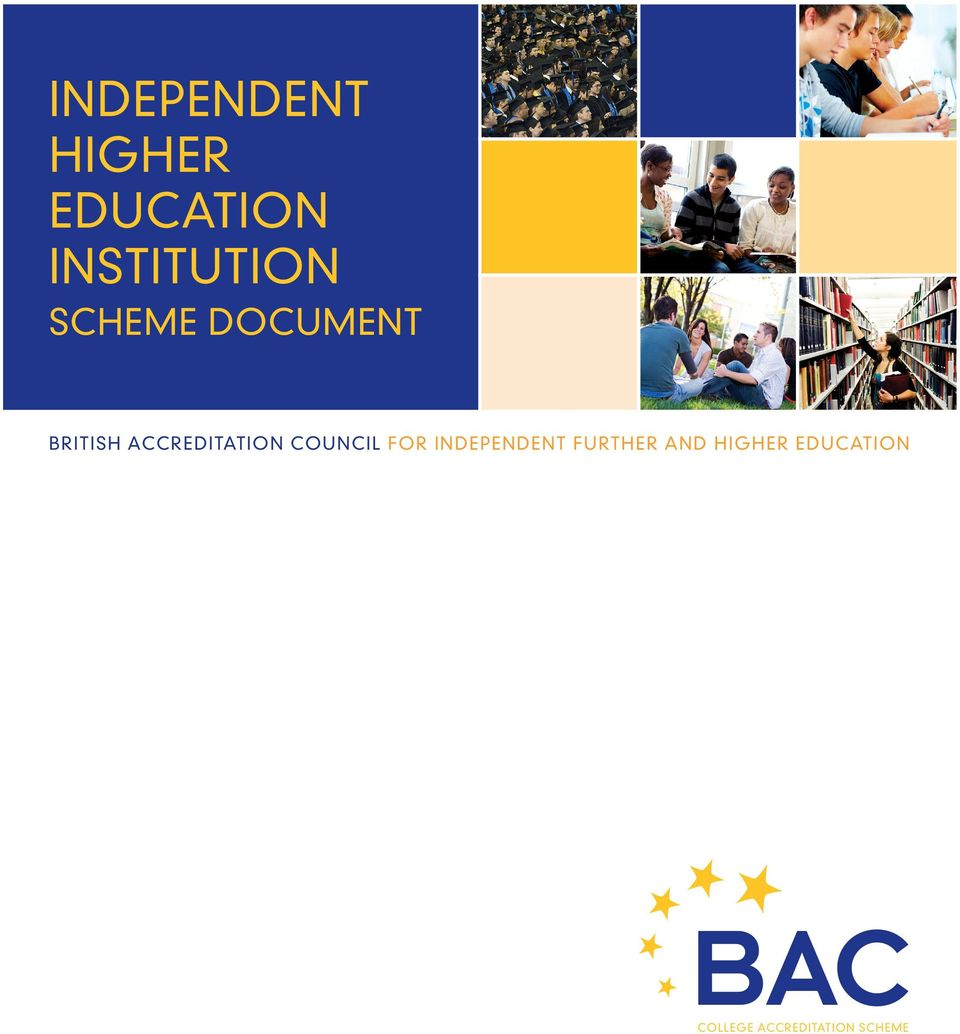 ACCREDITATION COUNCIL FOR INDEPENDENT