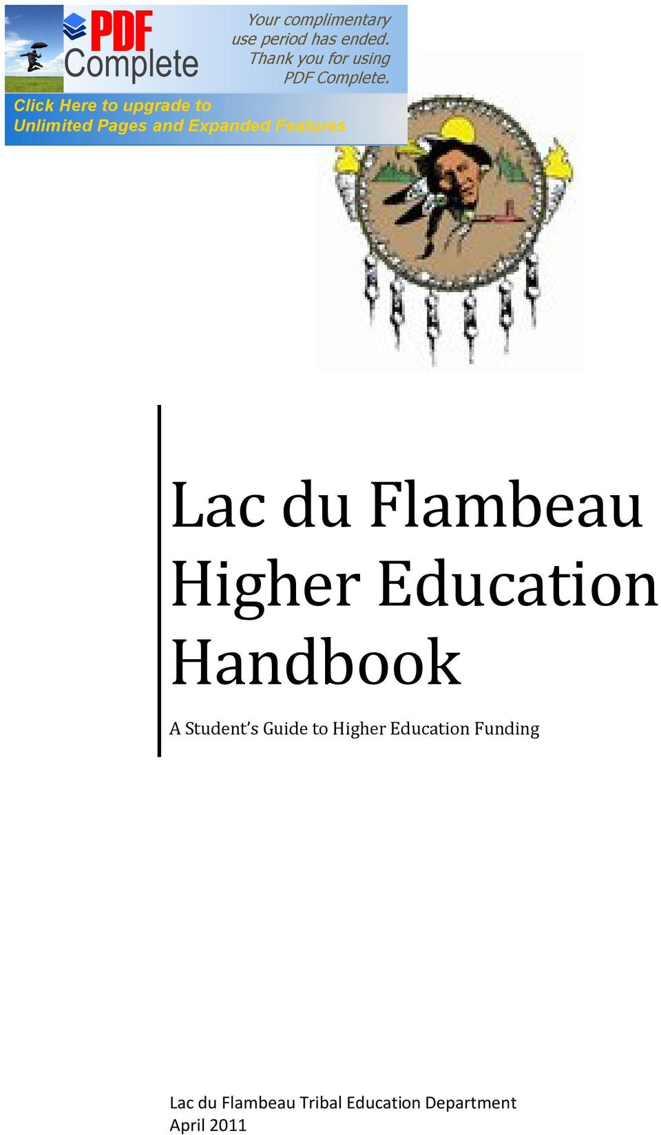 Higher Education Funding Lac du