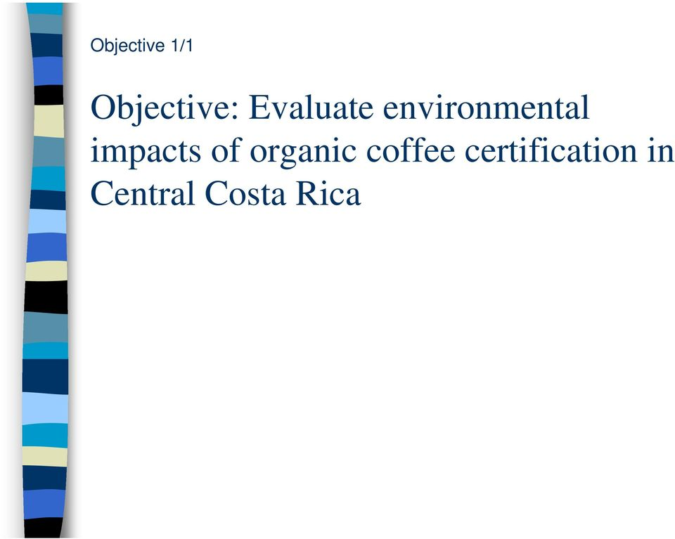 impacts of organic coffee