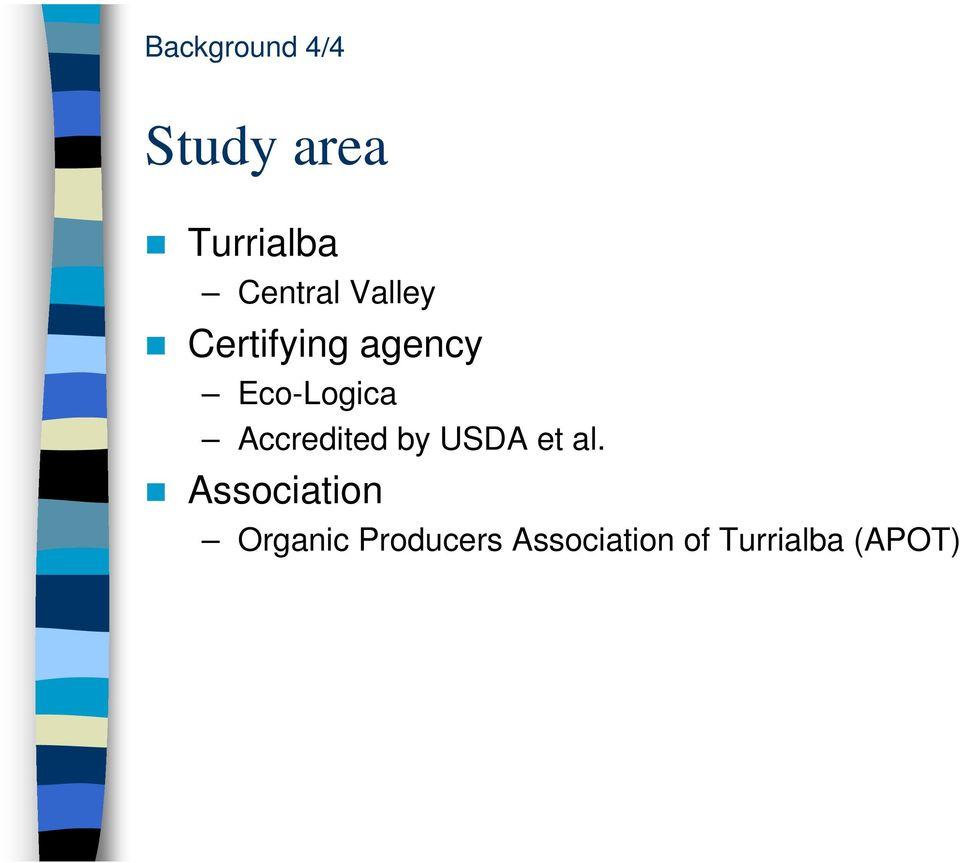Eco-Logica Accredited by USDA et al.