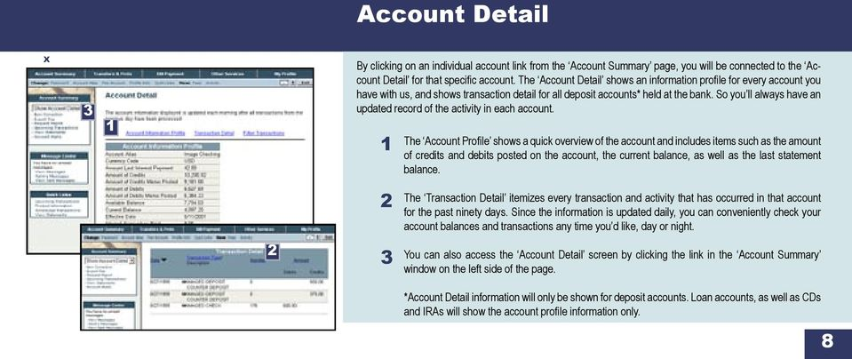 So you ll always have an updated record of the activity in each account.