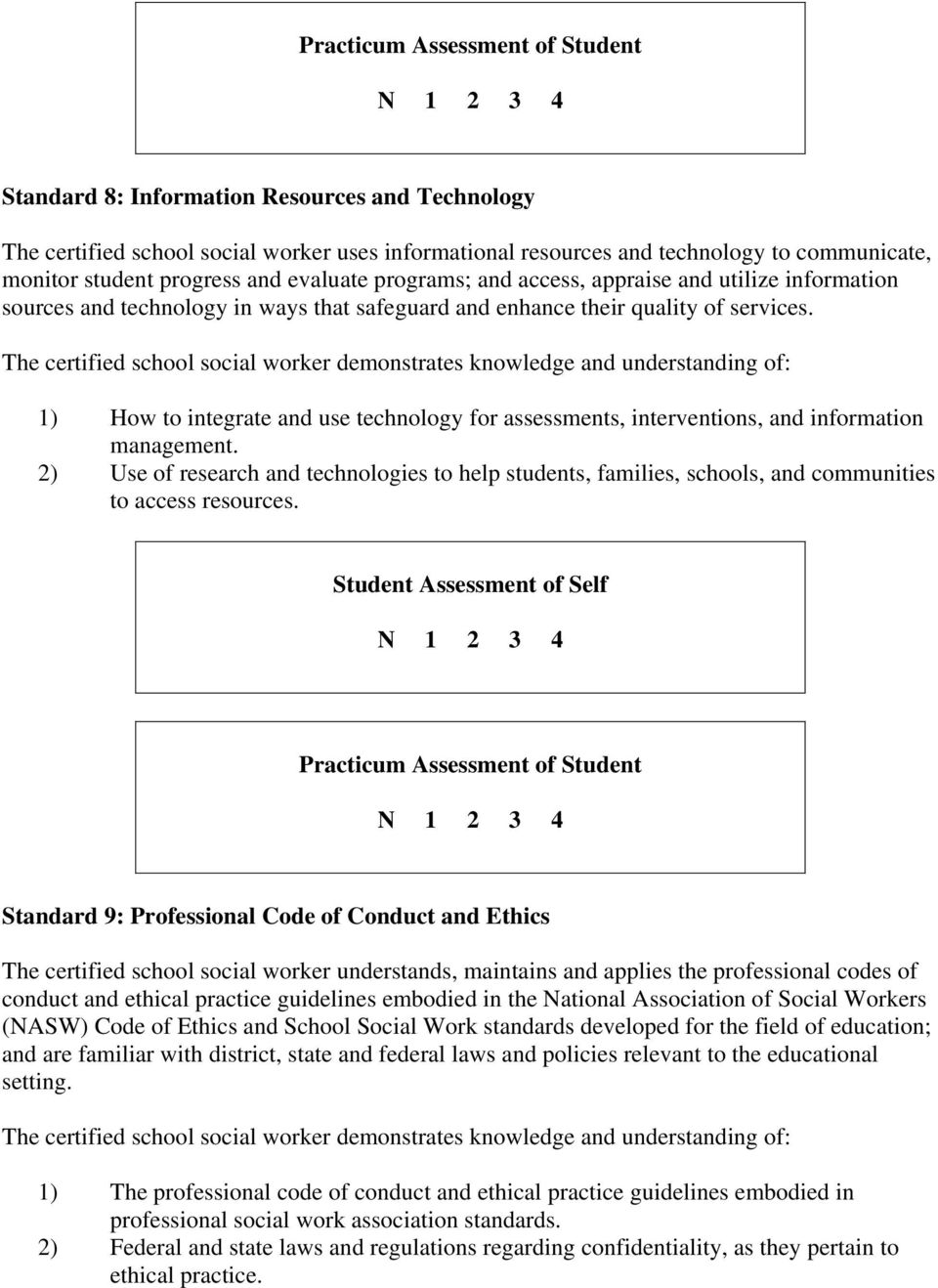 1) How to integrate and use technology for assessments, interventions, and information management.