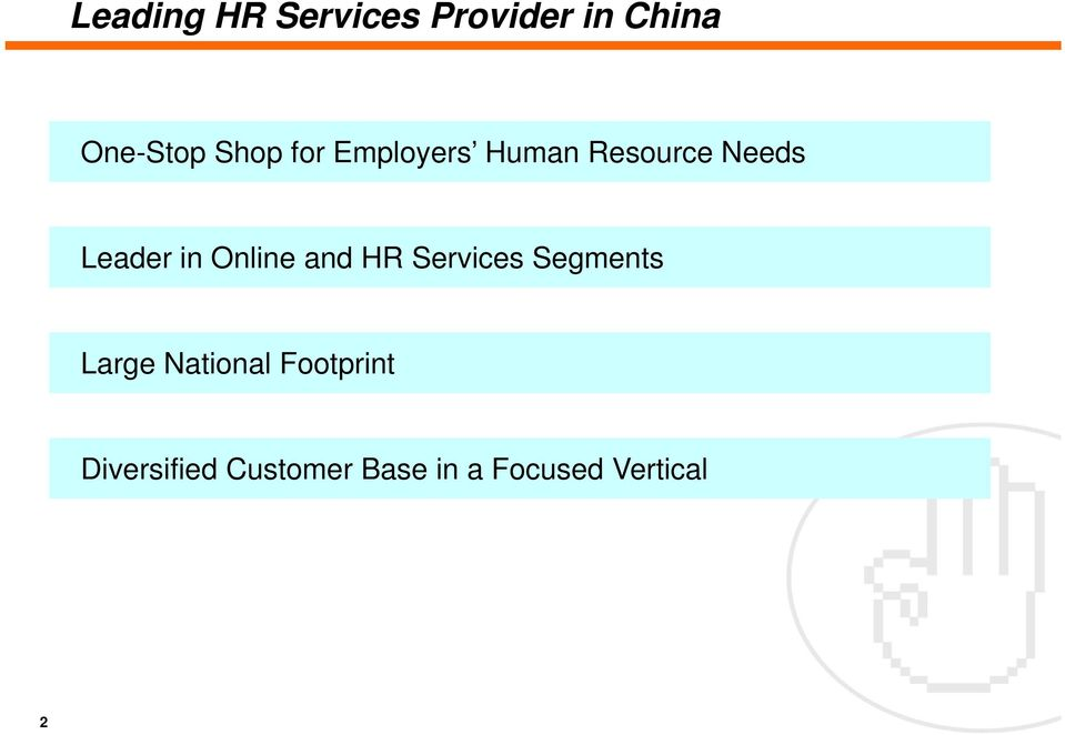Online and HR Services Segments Large National