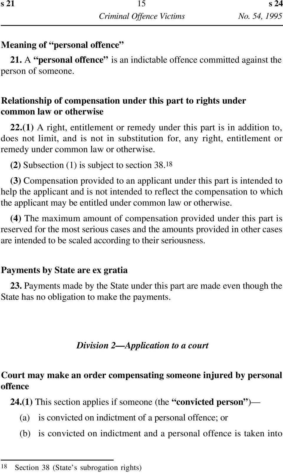 (1) A right, entitlement or remedy under this part is in addition to, does not limit, and is not in substitution for, any right, entitlement or remedy under common law or otherwise.