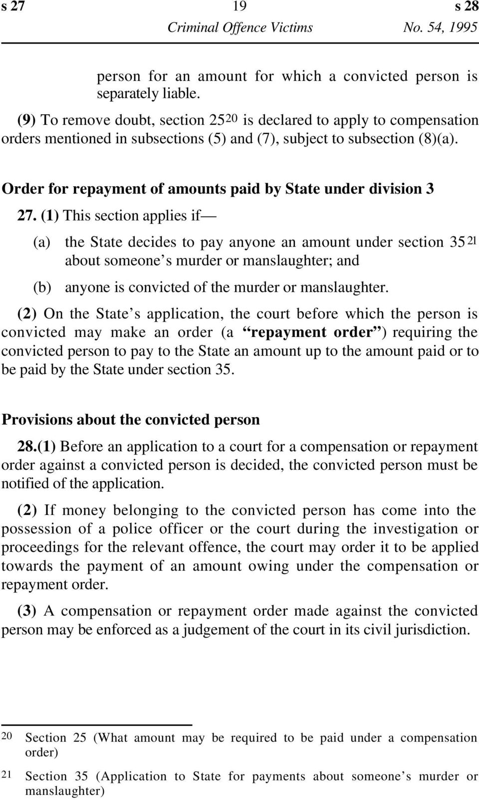 Order for repayment of amounts paid by State under division 3 27.