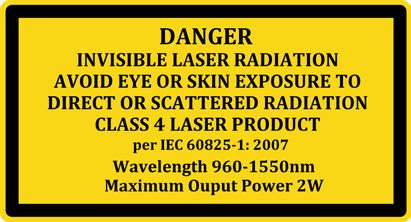 User Safety Safety and Operating Considerations The laser light emitted from this laser diode is invisible and may be harmful to the human eye.