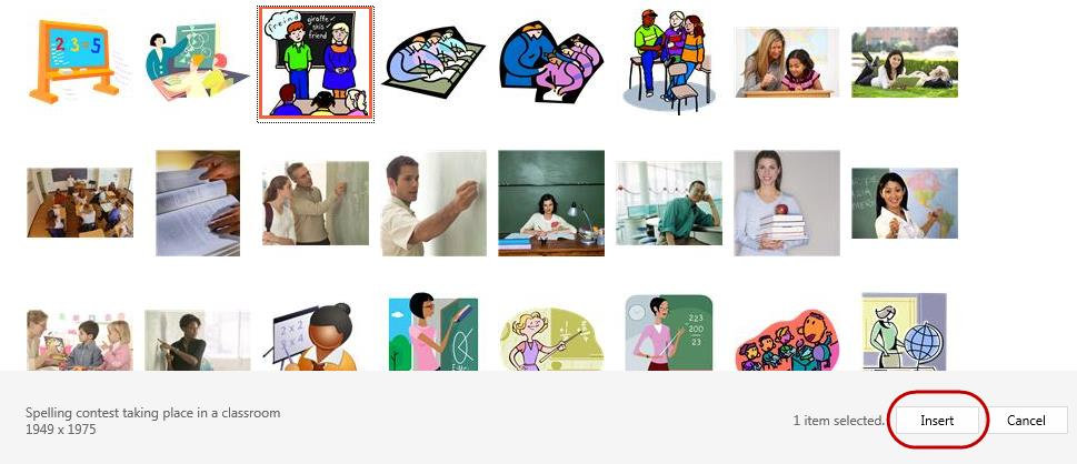 Clip Art Clip Art images are pictures that are available in PowerPoint that can be inserted into your presentations.