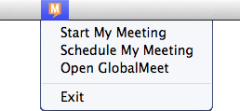GLOBALMEET FOR DESKTOP USING GLOBALMEET FOR DESKTOP Most of the time, you won t think about the app until it displays an alert (it runs quietly in the background).