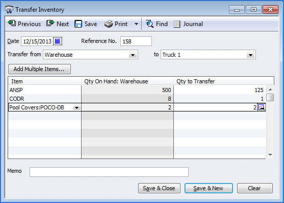 Step 5: To move quantity from one inventory location to another,