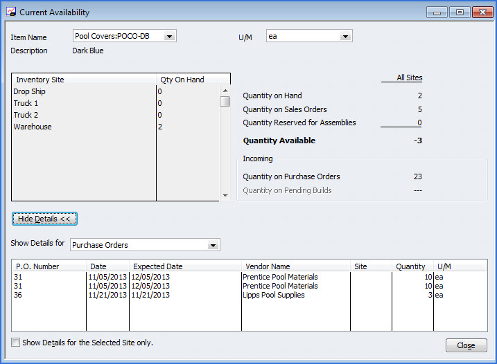 Step 7: When transferring inventory, in the Qty to Transfer column