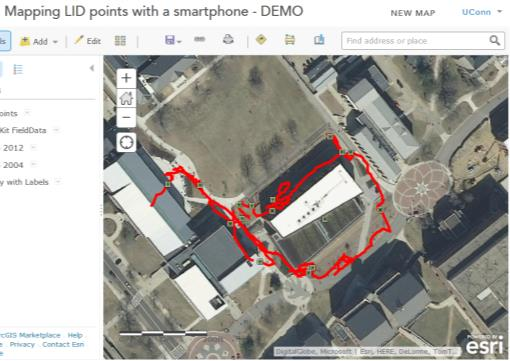Using a Smartphone GPS to Collect Data for Sharing Online - PDF