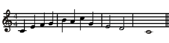Pretest Name each of the following notes using solfege.