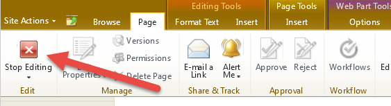 2. How To Edit Text In A Content Editor Webpart 1. Log in and locate the page that contains the text you need to edit. 2.