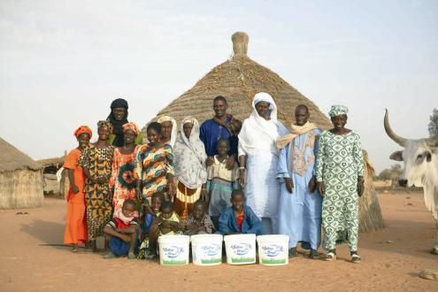 model with 3 milk collection centres sourcing more than 5 tons of milk every day - 1600 people empowered Senegal : La