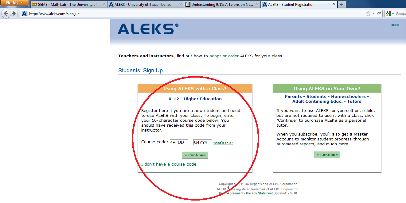 How to Subscribe to ALEKS 1. Go to aleks.com on the web. 2.