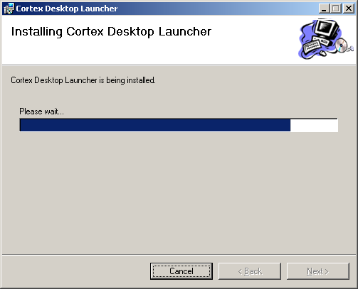 Cortex Desktop Installation 6 Click Next. The Confirm Install window is displayed. 7 Click Next to confirm the installation.