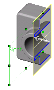 Displaying a Section View You can display a 3D section view of the model at any time. You use model faces or planes to specify the section cutting planes.
