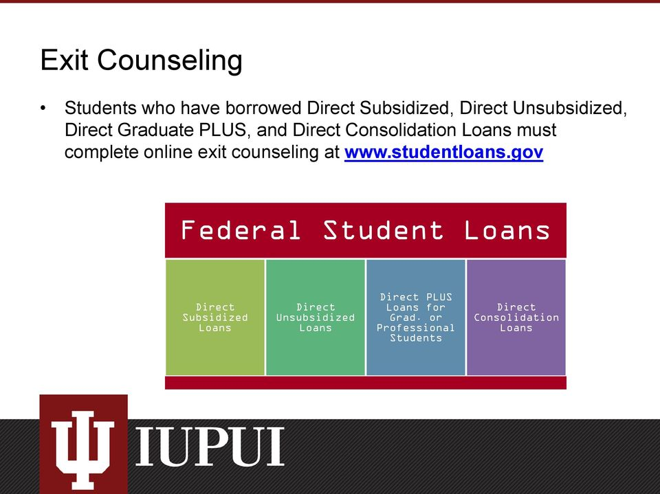 counseling at www.studentloans.