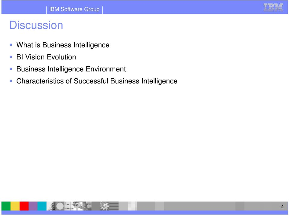 Business Intelligence Environment