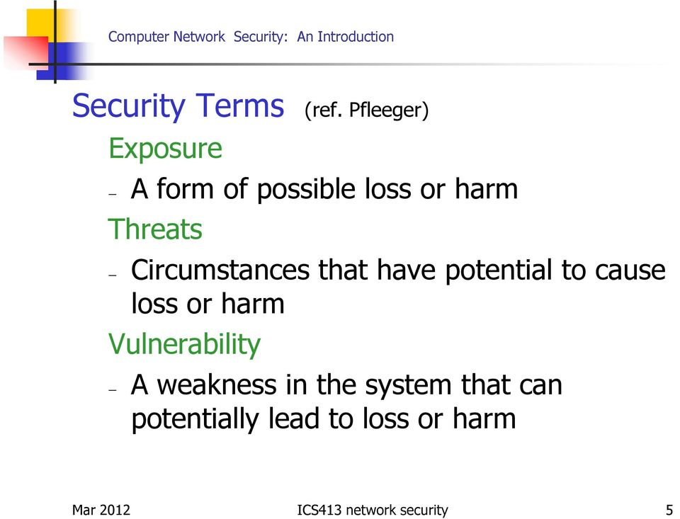 Circumstances that have potential to cause loss or harm
