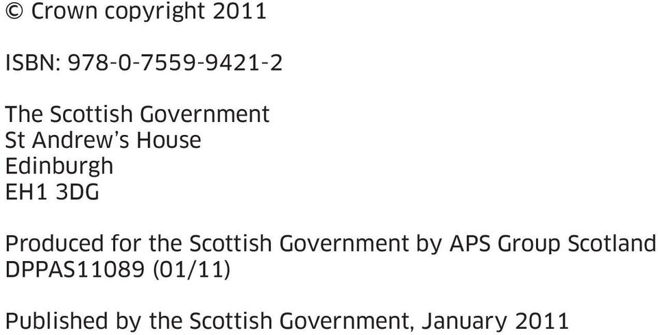 for the Scottish Government by APS Group Scotland