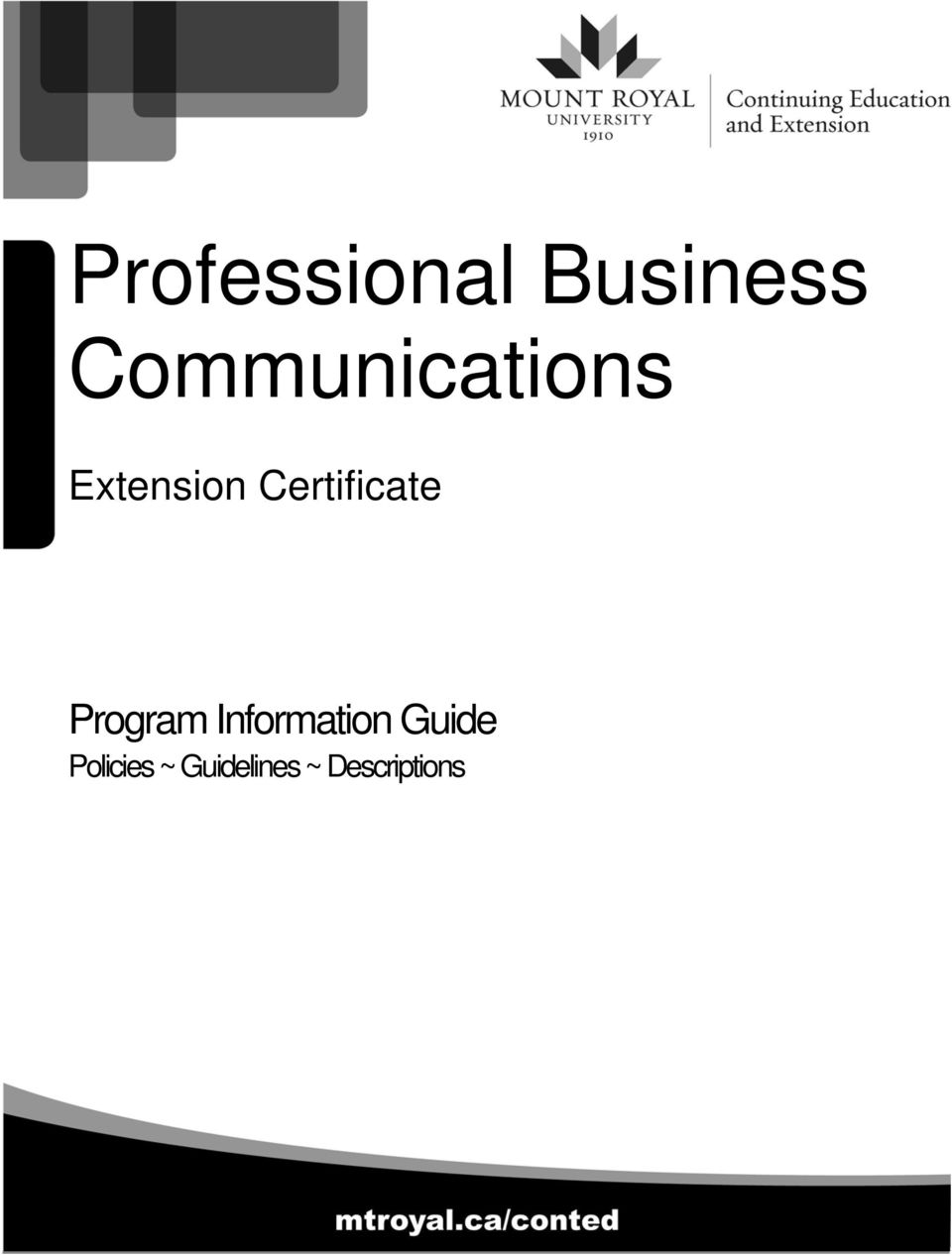 Communications Extension Certificate