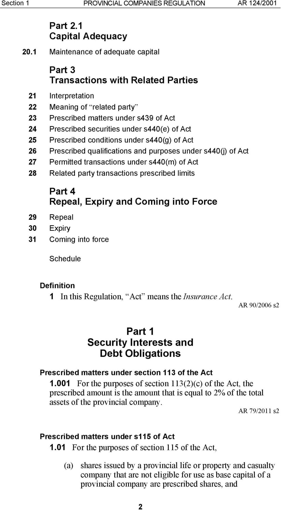 of Act 25 Prescribed conditions under s440(g) of Act 26 Prescribed qualifications and purposes under s440(j) of Act 27 Permitted transactions under s440(m) of Act 28 Related party transactions