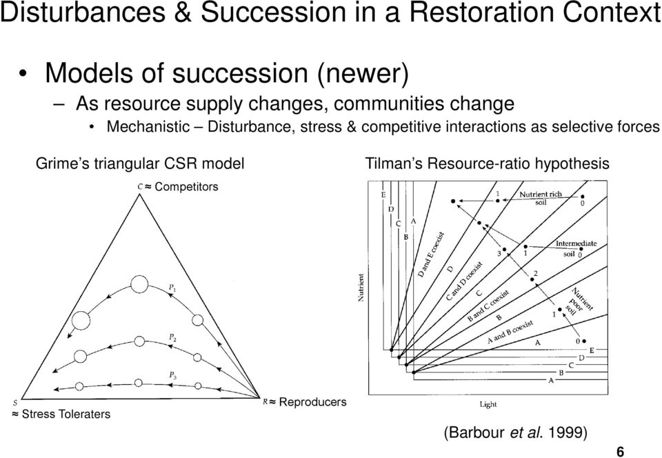 selective forces Grime s triangular CSR model Tilman s Resource-ratio