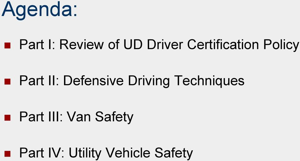 Defensive Driving Techniques Part