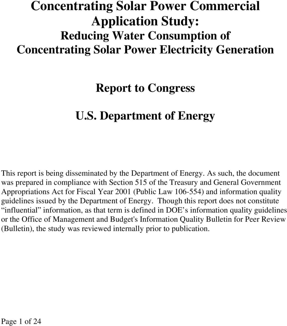 guidelines issued by the Department of Energy.